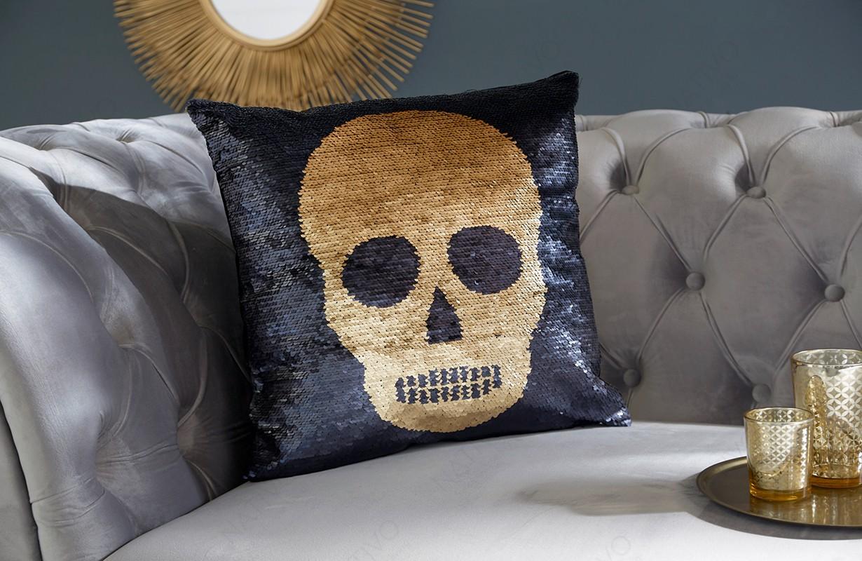 Cuscini Di Design.Cuscini Offerta Bone Gold Black Nativo Mobili Svizzera