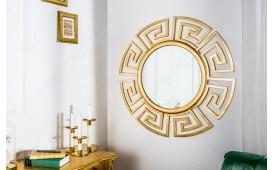 Designer Spiegel MASSIVO GOLD 85 cm