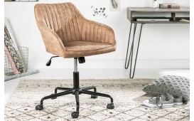 Designer Bürostuhl PIEMONT LIGHT BROWN