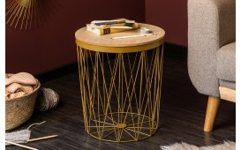 Table basse Design CAGE II GOLD