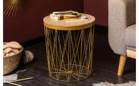Tavolino di design CAGE II GOLD