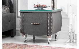 Table d'appoint Design FLOURISH DARK GREY 45 cm