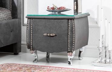 Tavolino d'appoggio di design FLOURISH DARK GREY 45 cm NATIVO™ mobili Italia