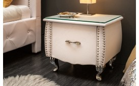 Tavolino d'appoggio di design FLOURISH WHITE 45 cm