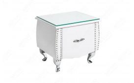 Tavolino d'appoggio di design FLOURISH WHITE 45 cm NATIVO™ mobili Italia