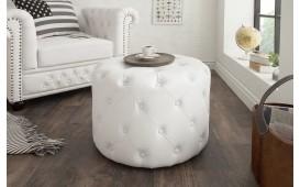 Pouf di design CHESTERFIELD WHITE 60 cm
