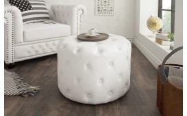 Pouf di design CHESTERFIELD WHITE 60 cm