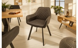 Designer Lounge Sessel SICILIA DARK GREY
