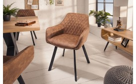 Fauteuil Lounge SICILIA LIGHT BROWN