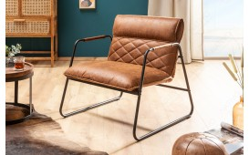 Fauteuil Lounge COLT LIGHT BROWN
