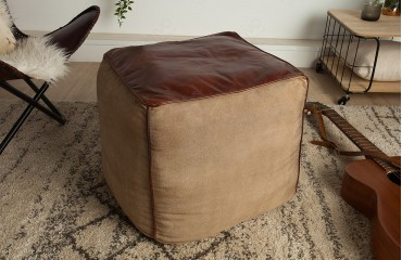 Vendita Pouf.Pouf Di Design Pinto Brown 45 Cm