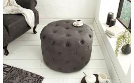 Designer Sitzhocker CHESTERFIELD GREY 60 cm NATIVO™ Möbel Schweiz