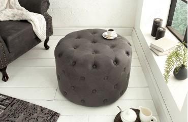 Pouf di design CHESTERFIELD GREY 60 cm