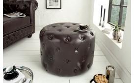Pouf di design CHESTERFIELD DARK CAFFEE 60 cm