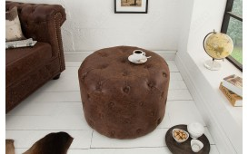 Pouf di design CHESTERFIELD BROWN 60 cm