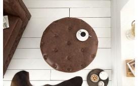 Pouf di design CHESTERFIELD BROWN 60 cm