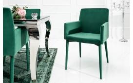 Designer Stuhl TORINO GREEN MIT ARMLEHNE