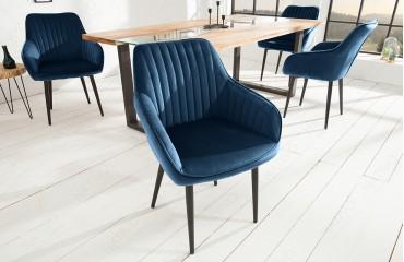 Chaise Design PIEMONT DARK BLUE