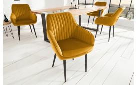 2 x Chaise Design PIEMONT SENF