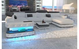 Canapé Design EXODUS XXL avec éclairage LED & port USB