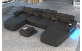 Canapé Design EXODUS XXL DUO avec éclairage LED & port USB