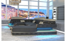 Designer Sofa EXODUS XL mit LED Beleuchtung & USB Anschluss