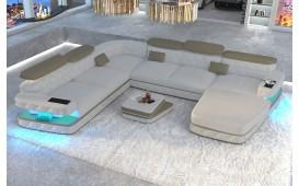 Designer Sofa EXODUS XXL mit LED Beleuchtung & USB Anschluss