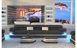 Divano di design a 3 posti EXODUS con illuminazione a LED e presa USB