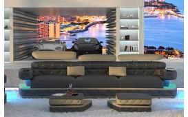 Canapé Design EXODUS 3 places avec éclairage LED & port USB