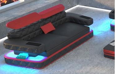 Divano di design a 2 posti EXODUS con illuminazione a LED e presa USB