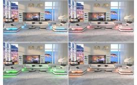 Canapé design 2 places EXODUS avec éclairage LED & port USB