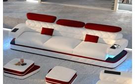3 Sitzer Sofa EXODUS mit LED Beleuchtung & USB Anschluss