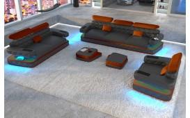 Divano di design EXODUS 3+2+1con illuminazione a LED e presa USB