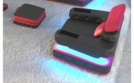 Poltrona di design EXODUS con illuminazione a LED e presa USB
