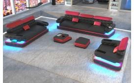 Canapé Design EXODUS 3+2+1avec éclairage LED & port USB