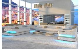 Designer Sofa EXODUS 3+2+1 mit LED Beleuchtung & USB Anschluss NATIVO™ Möbel Schweiz
