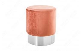 Pouf di design ROCCO DUSKY PINK SILVER 35 cm