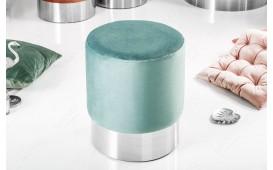 Designer Sitzhocker ROCCO MINT SILVER 35 cm NATIVO™ Möbel Schweiz