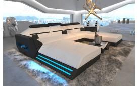 Designer Sofa AVATAR XXL DUO mit LED Beleuchtung & USB Anschluss