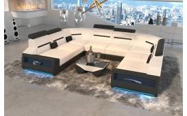 Divano di design AVATAR CORNER U FORM con illuminazione a LED e presa USB
