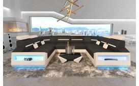 Canapé Design AVATAR CORNER U FORM avec éclairage LED & port USB