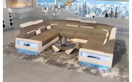 Designer Sofa AVATAR CORNER U FORM mit LED Beleuchtung & USB Anschluss NATIVO™ Möbel Schweiz