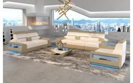 Designer Sofa AVATAR 3+2+1 mit LED Beleuchtung & USB Anschluss