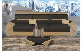 Canapé Design 3 places AVATAR avec éclairage LED & port USB
