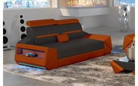 Canapé Design 2 places AVATAR avec éclairage LED & port USB
