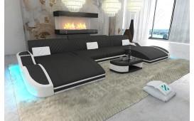Designer Sofa DIABLO XXL DUO mit LED Beleuchtung & USB Anschluss
