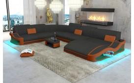 Designer Sofa DIABLO XXL mit LED Beleuchtung & USB Anschluss NATIVO™ Möbel Schweiz