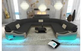 Designer Sofa DIABLO CORNER U FORM mit LED Beleuchtung & USB Anschluss NATIVO™ Möbel Schweiz