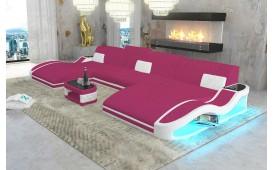 Canapé Design DIABLO XXL DUO avec éclairage LED & port USB