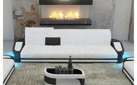 Canapé Design DIABLO 3 places avec éclairage LED & port USB